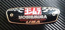 YOSHIMURA ALUMINIUM DECAL MUFFLER  METAL PLATE LOGO EXHAUST MOTORCYCLE YR1