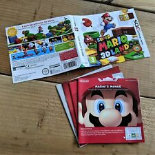 Super Mario 3D Land ~ Genuine ART INSERT & MANUAL ONLY (Nintendo 3DS) NO Game