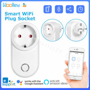 Smart Wifi Plug Wireless Socket EU Outlet Timer Light Switch Work w/Alexa Google