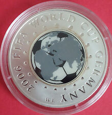 R* BELARUS 20 RUBLES ROUBLES SILVER 2005 FIFA WORLD CUP 2006 GERMANY UNC/PROOF