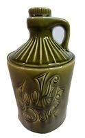 "Cookie Jug Jar Looks like Moonshine Bottle Green Vintage McCoy 11.5"" Tall"