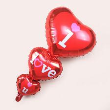 I Love U Anniversary Red Heart Balloons Weddings Valentine Decor Party Supplies