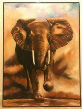 Andrew Daka (Zambia) Framed Canvas - The Elephant