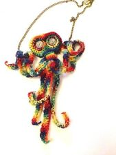 Octopendant - Multicolour - Textile Jewellery - Crochet Necklace Pendant
