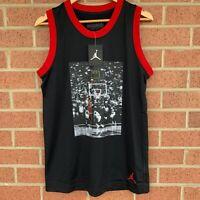 Nike Jordan Jumpman Chicago Bulls Last Shot Jersey (AQ0697-010) - Size Small NWT