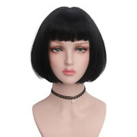 Short Bob Wig For Women Cosplay Costume Daily Straight Black Hair 1920s Flapper
