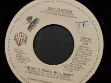"ERIC CLAPTON 45 RPM ""I've Got a Rock & Roll Heart"" & ""Man in Love"" VG++ cond."