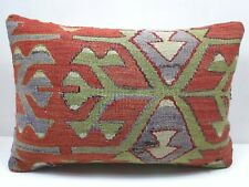 "Vintage Rug Kilim Lumbar Pillow Cover Vintage Cushion Cover 20""x14"" Throw Pillow"