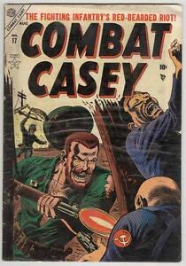 Combat Casey #17 Atlas August 1954 VG- R Q Sale art