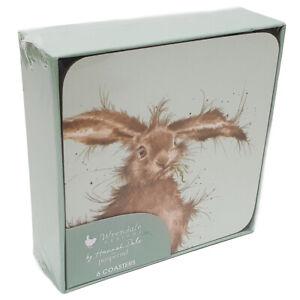 Pimpernel Wrendale Designs Hare Cork Backed Coasters - Set of 6 - 10cm x 10cm