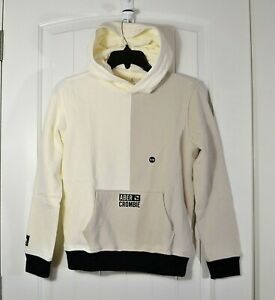 NWT KIDS YOUTH BOYS ABERCROMBIE IVORY HOODIE JACKET PULLOVER SZ 7/8, 9/10, 11/12