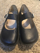 Alegria PAL-601 Women Size 38 EUR Black Leather Mary Jane Style Platform Shoes