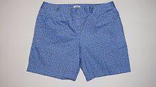 IZOD Performx Blue Dot Print Twill Shorts Size 10