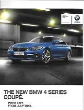 BMW 4 SERIES COUPE PRICE LIST CAR  BROCHURE JULY 2013