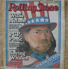 Rolling Stone Magazine July 13, 1978/ Issue No. 269/ Willie Nelson/ Springsteen