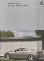 2007 BMW Media Brochure and CD - 328Ci 335Ci Convertible X5 Hydrogen 7 2008