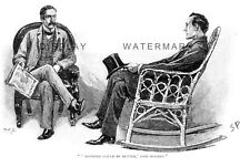 Sherlock Holmes in The Stockbroker's Clerk as drawn by Sidney Paget