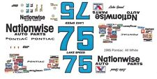 #75 Lake Speed Nationwise Pontiac 1/24th - 1/25th Scale Waterslide Decals