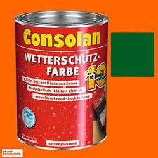 Consolan Wetterschutzfarbe Holzschutzfarbe Schutzfarbe grün 2,5 Liter Neuware