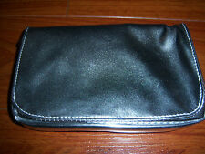 SONIA KASHUK MAKEUP COSMETIC BAG PURSE CLUTCH SILVER NEW