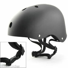 BICYCLE CYCLE BIKE BMX SKATEBOARD SKATE STUNT MATT BLACK HELMET - MEDIUM 54-58cm