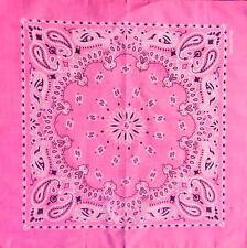 Pink Paisley Bandana Cotton Headwear Headband Dog Neck Tie Feeanddave