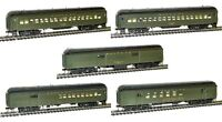 Rivarossi Santa Fe 60ft Passenger RPO Baggage Coaches  - Set Of 5 Cars