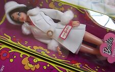 Red White Warm Twist Turn Brunette Barbie Doll & Pleather Jacket Coat Hat Boots