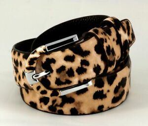 Leopard Print Belt Genuine Leather PVC Pin Buckle Waist Woman Fashion Accessory