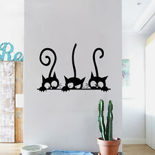 Stickers Three Kittens Cats Vinyl Wall Sticker Mural Fridge Wall Decal