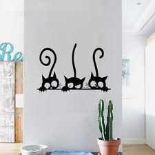 Stickers Three Kittens Cats Vinyl Wall Sticker Mural Fridge Wall Decal