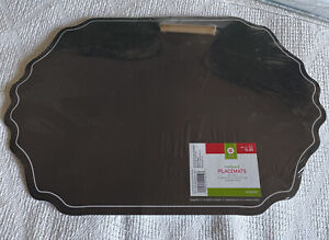 12 Black Chalkboard Placemats Paper W Chalk NIP