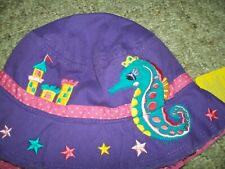 NEW Stephen Joseph Kids SEAHORSE Bucket Sun Hat Toddler Beach for Girls NWT