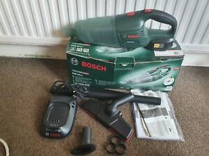 Bosch, PAS 18 LI, Cordless hand vac ,with one battery and charger, attatchment