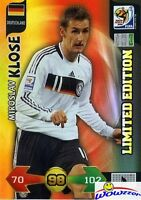 2010 Panini Adrenalyn XL FIFA World Cup Miroslav Klose Limited Edition Germany