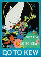 Go to Kew Gardens, 1915, English Travel London Underground Art Deco Poster