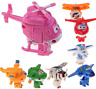 8Pcs TV Animation Super Wings Transforming Plane Mini Toys Characters kids Play