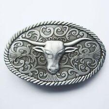 Longhorn Bull Western Metal Belt Buckle