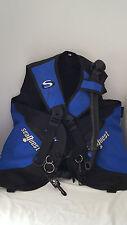 Scuba Diving Vest SeaQuest Quick Draw Weight Holster Large L Air Regulator Blue