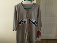 Giancarlo Stanton NWT New York Yankees #27  Grey Majestic Size 52 Jersey