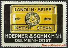 Reklamemarke - DELMENHORST, Lanolin Seife - Hoepner & Sohn GmbH (#25989)