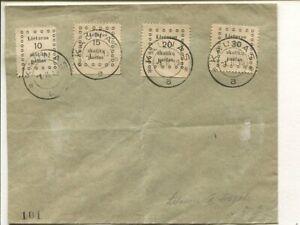 Lithuania set cover 1.2.1919, no address
