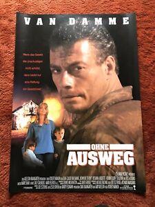 Ohne Ausweg Kinoplakat Poster A1, Jean Claude Van Damme, Rosanna Arquette