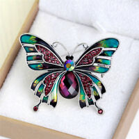 Fashion Elegant Butterfly Brooches For Women Gold Plated Pearl Crystal Brooch