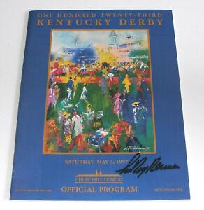 LeRoy Neiman SIGNED 123rd 1997 Kentucky Derby Program Autograph