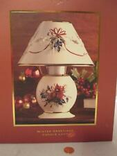 Lenox Christmas Winter Greetings Votive Tea Light Candle Lamp Holder Cardinal 8""