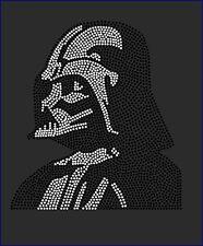Star Wars Darth Vader Profile Inspired Fan Art Rhinestone Iron On Transfer Bling