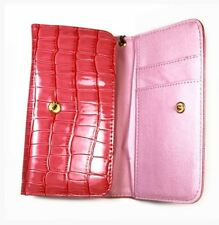 Housse Etui Portefeuille Protection croco rose pour APPLE Iphone 6S