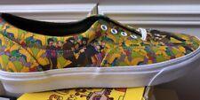 New Vans X The Beatles Era Garden Multi Print Men's Shoes Size 11