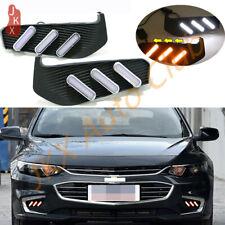 LED DRL Daytime Running Lamp w/ Turn signal o Fit For Chevrolet Malibu XL 16-18